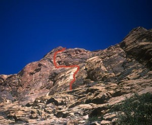 Black Orpheus Wall - Black Orpheus 5.10a - Red Rocks, Nevada USA. Click to Enlarge