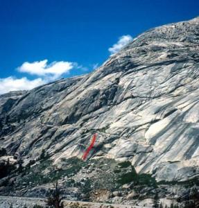 Circle A Wall - Apex Predator 5.11b - Tuolumne Meadows, California USA. Click to Enlarge