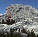 Daff Dome - Blown Away 5.9 - Tuolumne Meadows, California USA. Click for details.