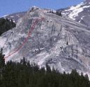 Lembert Dome - Direct Northwest Face 5.10c - Tuolumne Meadows, California USA. Click for details.