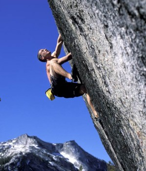 Low Profile Dome - Memo From Lloyd 5.11b - Tuolumne Meadows, California USA. Click to Enlarge