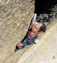 Medlicott Dome, Right - Pretty in Pink Point 5.10a - Tuolumne Meadows, California USA. Click for details.