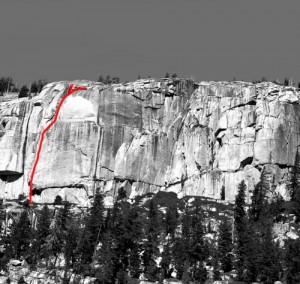 Phobos-Deimos Cliff - Phobos 5.9 - Tuolumne Meadows, California USA. Click to Enlarge