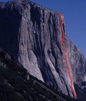 El Capitan - The Nose 5.14a or 5.9 C2 - Yosemite Valley, California USA. Click to Enlarge