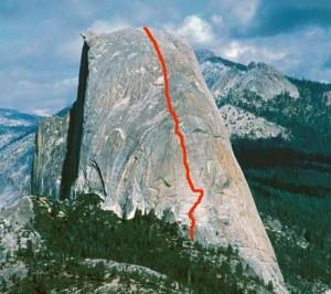 Half Dome - Snake Dike 5.7 R - Yosemite Valley, California USA. Click to Enlarge