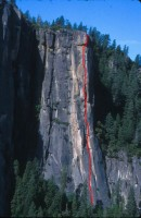 The Rostrum - North Face 5.11c - Yosemite Valley, California USA. Click to Enlarge