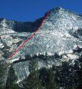 Tenaya Peak - Northwest Buttress 5.5 - Tuolumne Meadows, California USA. Click for details.