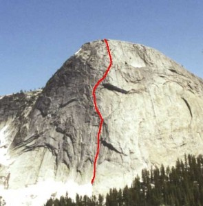 Fairview Dome - Regular Route 5.9 - Tuolumne Meadows, California USA. Click to Enlarge