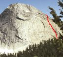 Fairview Dome - Lucky Streaks 5.10d - Tuolumne Meadows, California USA. Click for details.