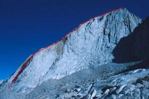 Mt. Conness - West Ridge 5.6 - Tuolumne Meadows, California USA. Click to Enlarge