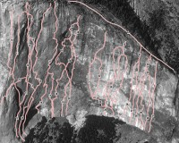 El Capitan - Lost in America A4 5.10 - Yosemite Valley, California USA. Click to Enlarge