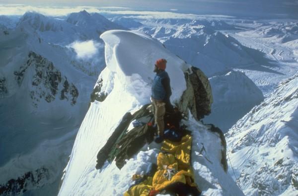 Camp 2 on the East Ridge. Tokositna glacier beyond