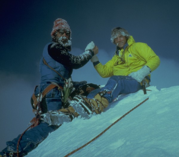 On top for the second time in two years! Jay Kerr in the frozen beard,...