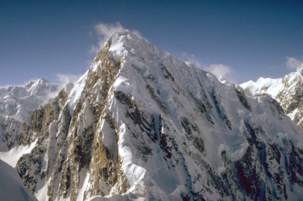 Mt. Huntington from the summit of The Rooster Comb. The East Ridge ris...