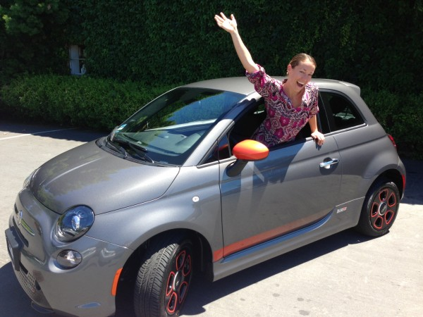 Just got the Fiat 500e electric car... charging off the solar panels r...
