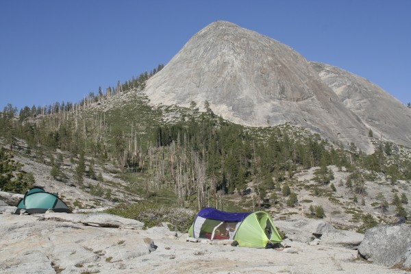 The campsite and Starr King.